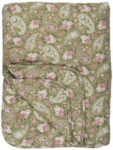 Quilt grøn faded rose